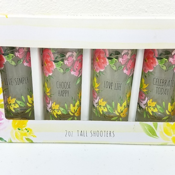 tmd holding Other - Tall Shooters Set of 4 Inspirational Floral Design
